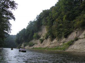 canoing steep bank river