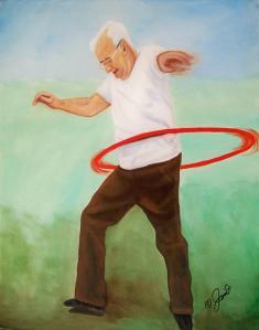 old man hulla hoop
